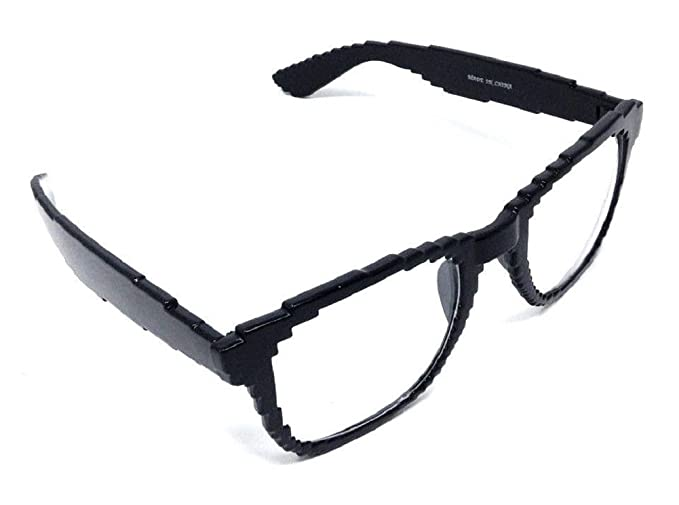 Amazon.com: pixelado Digital 8 bit cuadrado anteojos/lente ...