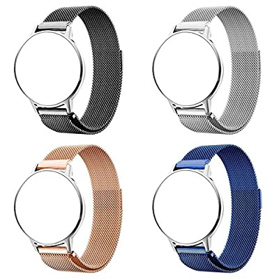 RuenTech 22mm Strap Fossil Q Wander Replacement Bands, Metal Milanese Loop Bands Fossil Q Wander Gen 2 Touchscreen Smartwatch