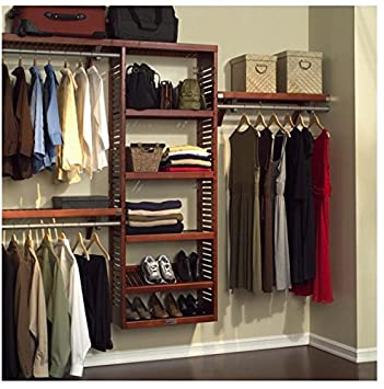 Charmant John Louis Home Collection Premier 12 Inch Deep Red Mahogany Wood Closet  System