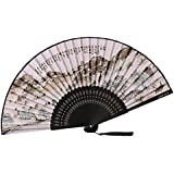 [Chinese & Japanese] Retro Silk Hand Fan Portable Folding Fan Handheld Fan NO.13