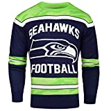 FOCO Seattle Seahawks Ugly Glow In The Dark Sweater - Mens Medium