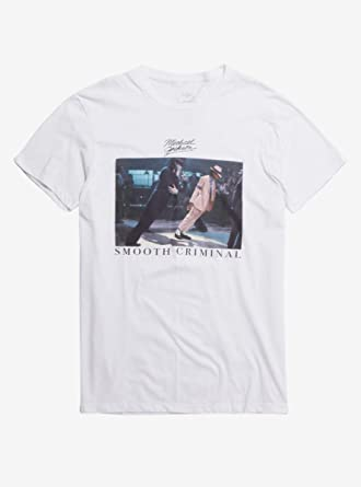 6f92390992d3 Amazon.com: Michael Jackson Smooth Criminal Photo T-Shirt White ...