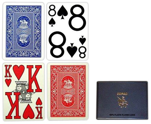 Copag Poker Size Magnum Index Playing Cards (Blue Red - Outlet Ny Rochester