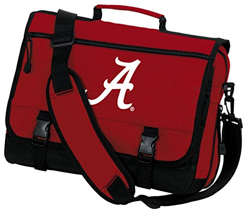 Broad Bay Alabama Laptop Bag University of Alabama Messenger Bag or Computer Bag (Laptop Crimson Bag Tide Alabama)