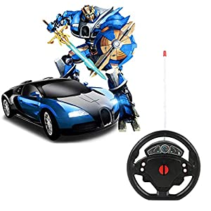 SUPER TOY Transformation Steering Remote Control Robot 2 in1 Deformation Car Toy for Kids