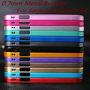 ModernGut Newest Cross Aluminum Frame Case 0.7mm Metal Bumper for Samsung Galaxy S4 i9500 SIV with Original Package