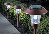 Cratos Solar Garden Lamp - Auto On/Off - Stainless Steel - copper or grey color
