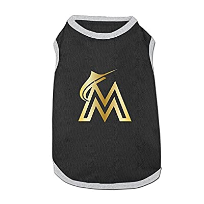 Bertie Miami Marlins MIA The Fish Classic Gold Logo Hipster Pet Shirt Puppy Clothes