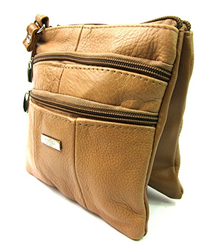Small Body Ladies Over Ladies Real Leather Crossover Tan Real Oq0Tx4FnwY