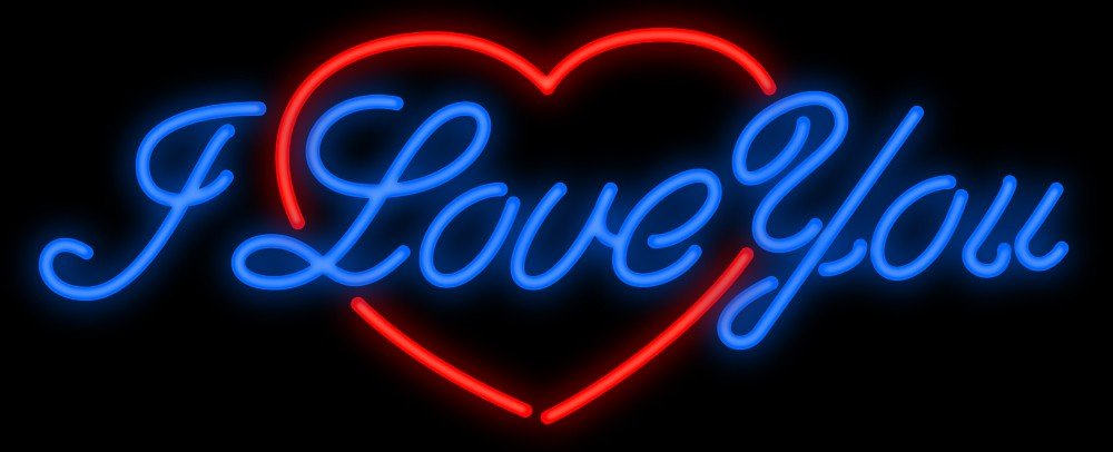 Desung New 24''x20'' I LOVE YOU Neon Sign Man Cave Signs Sports Bar Pub Beer Neon Lights Lamp Glass Neon Light DX55