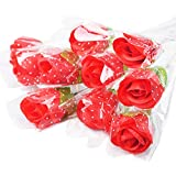 Packing: 10pcs single rose with wrapper+ ribbon These fake roses can be used as birthday gifts, Valentine's Day gifts, teachers' day gifts, etc.  Suitable for wedding décor, Coffee shop decor, home décor, hotel decoration.