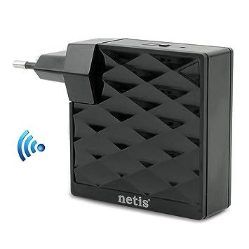 Netis Extensor de WiFi 150Mbps Repetidor WiFi Amplificador Inalámbrico (Modo Enrutador/Extensor/Ap