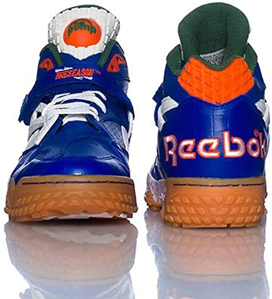 "Men s Pump Paydirt Mid Royal Green-White-Orange V60292 Shoe. Reebok Men s  Pump Paydirt ""Florida Gators"" Royal Green White Orange ... 6a16dd45f"