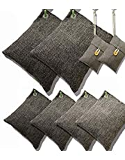 DTXDTech Bamboo Charcoal Air Purifying Bags Activated Charcoal Bags Odor Absorber Moisture Absorber Car Air Freshener Shoe Deodorizer Odor Eliminators for Car Closet Shoes 8 Pack