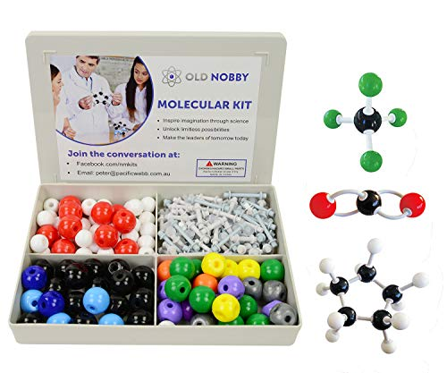 Basic Model Atom - Organic Chemistry Model Kit (239 Pieces) - Molecular Model Student or Teacher Pack with Atoms, Bonds and Instructional Guide