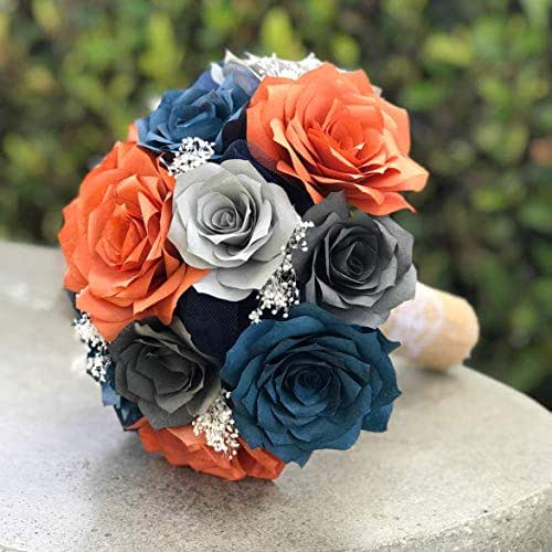 Whole Foods Wedding Bouquet: Amazon.com: Wedding Bouquet In Burnt Orange, Navy Blue And