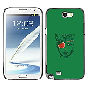 LECELL--Funda protectora / Cubierta / Piel For Samsung Note 2 N7100 -- Pirate Girl --