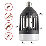 Bug Zapper Light Bulb Zapper Lamp LED Electronic Insect Killer Mosquito Killer 110V E26/E27 Light Bulb Socket Base for Indoor Garage Kitchen Barn Outdoor Backyard Garden Porch Patio