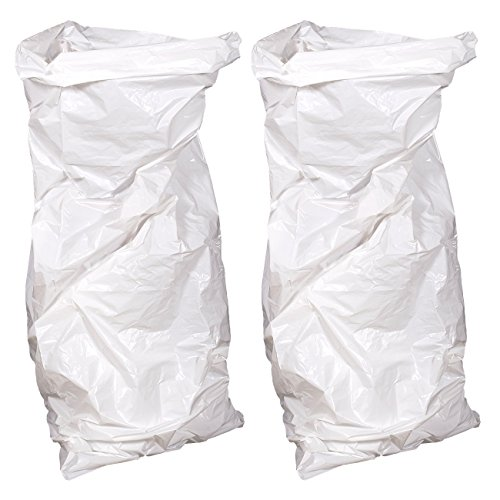 Juvale 2 Pack Christmas Tree Storage Bags - Removal Bags Suitable Trees Artificial Trees up to 7.5 Feet Tall, 4 x 9 Feet, White