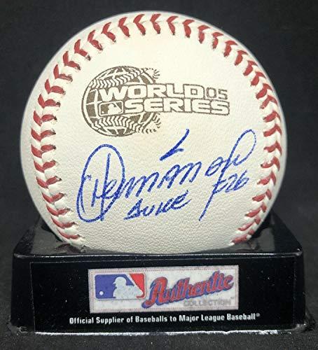 Orlando Hernandez Autographed Signed Signed Official 2005 World Series Baseball JSA COA