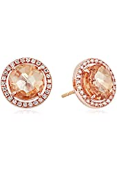 Kalan by Suzanne Kalan 14k Rose Gold, Champagne Topaz, and White Sapphire Earrings