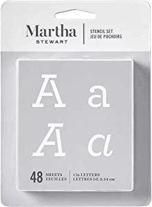 Martha Stewart Crafts Alphabet Stencil, 32272 Typewriter