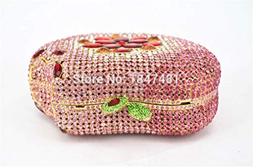 Crystal Purse Handbag Luxury Diamond Shape bag clutch ULKpiaoliang Clutch Fruit Silver Bag Ladies Party Evening Apple Women Pink Wedding Purse AB pawIwq4Y