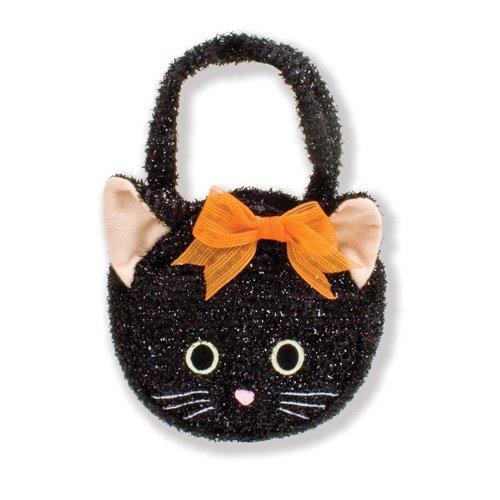 North American Bear Company Goody Bag Black Cat Plush Purse - North American Bear Handbag