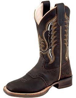 58deed98e6e Amazon.com | Double Barrel Boys' Buckshot Camo Cowboy Square Toe ...