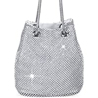 Clocolor Women's Evening Bags Crystal Rhinestone Clutches Shoulder Bucket Bag Cross-body Purses