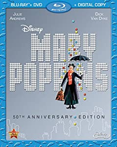Mary Poppins: 50th Anniversary Edition (Blu-ray + DVD + Digital Copy) from Walt Disney Studios Home Entertainment