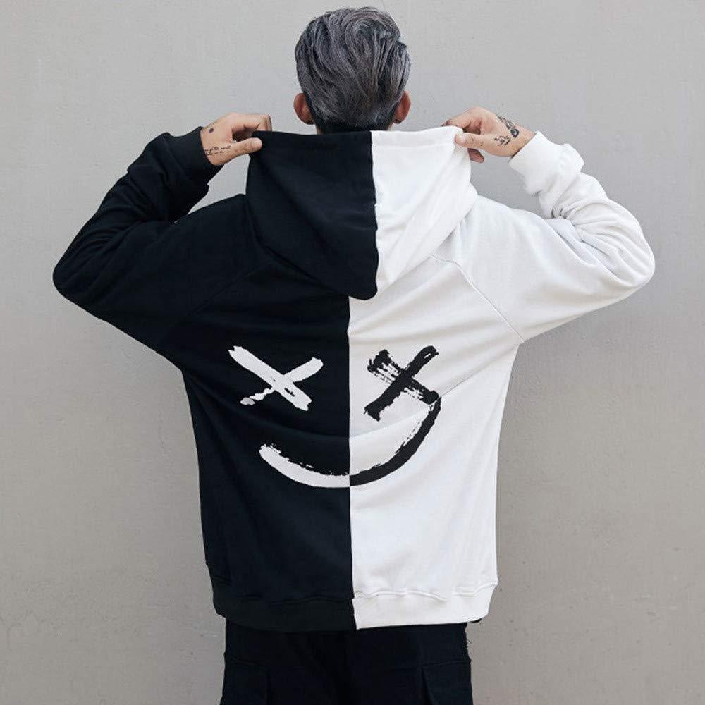 VICCKI Unisex Teens Smiling Face Fashion Print Hoodie Sweatshirt Jacket Pullover