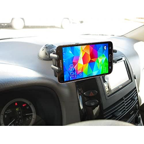 Car Mount, High Grade Universal Car Dash Mount / Windshield Mount for Samsung Galaxy Note 7 6 5 4 S8 S7 S6 S5 Edge / Motorola Droid Turbo, Maxx, Moto G4 and All 4-6 inch Devices (use with or without case) Sales