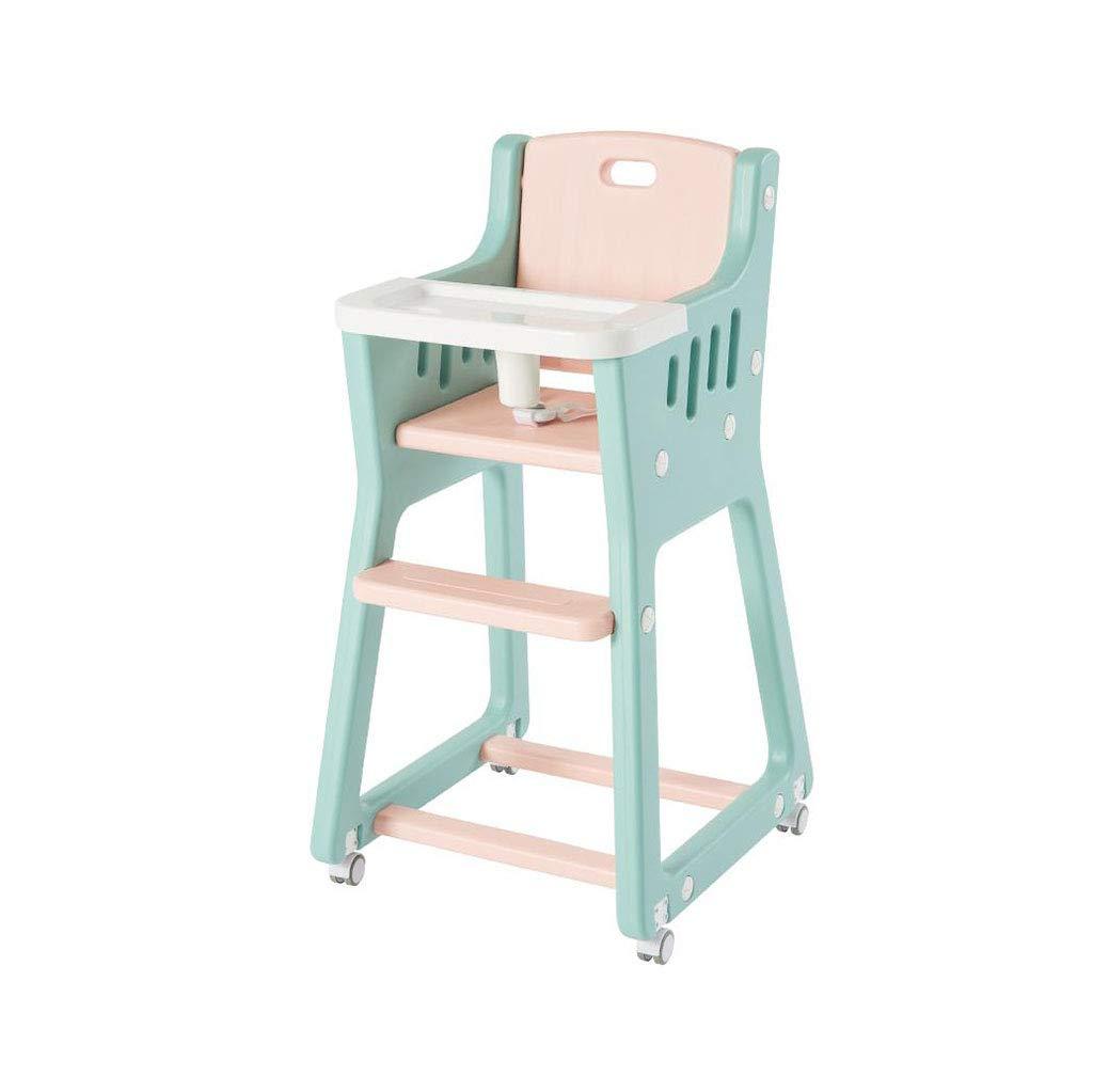 ベビーハイチェアダイニングチェアプラスチックアジャスタブルフードトレイ幼児送り椅子   B07T4GT2H7