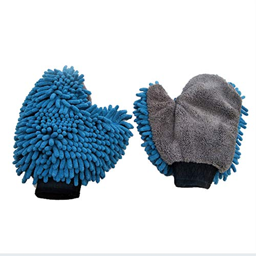 Btbtoc Car Waterproof Washing Microfiber Chenille Cleaning Gloves Mitt Wax Detail Brush Care Double Side Glove
