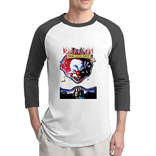 Man 3/4 Sleeve Killer Klowns From Outer Space Raglan Shirts Crazy Jersey -