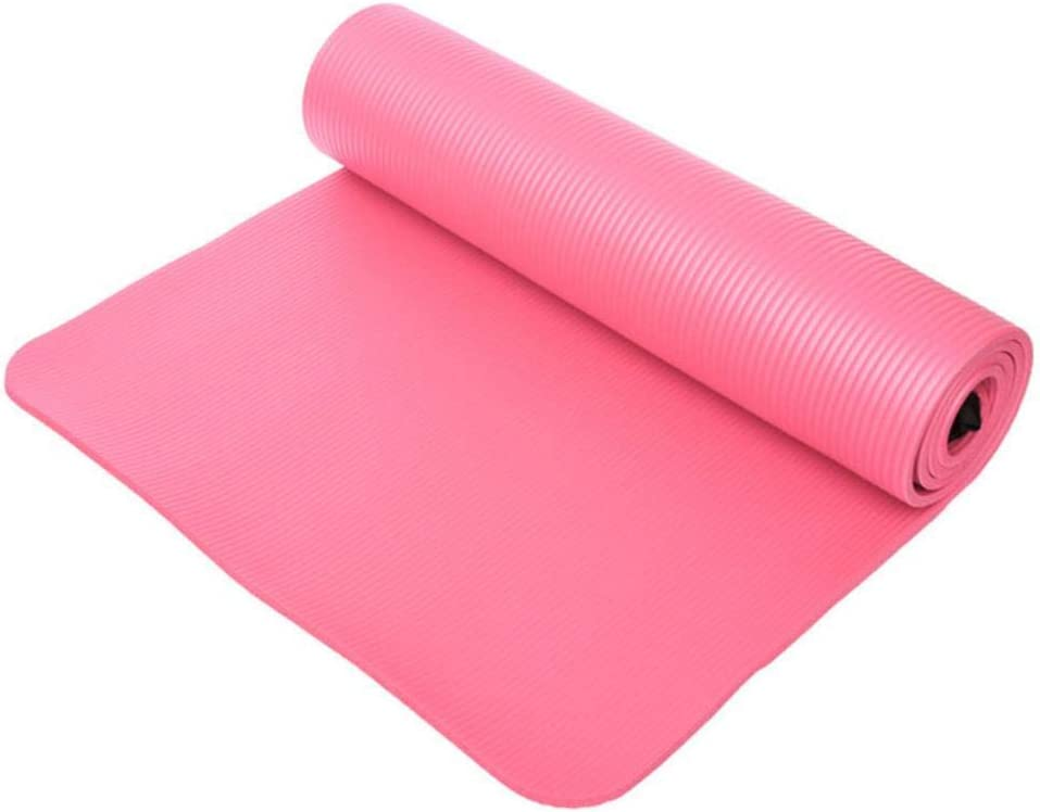 IONE 183 61 China Rosa 1 cm Esterilla de Yoga Gruesa Antideslizante Plegable Fitness Deportivo Estera de Pilates Suave Equipo Deportivo de Fitness