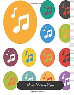 Amazon Com Music Writing Template Empty Staff 12 Stave Manuscript