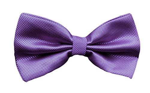 Abito Pre Inchino Solido Plaid Formale Cravatta Mendeng Sposa Da Partito legato Maschile Viola Tuxedo CqH5t