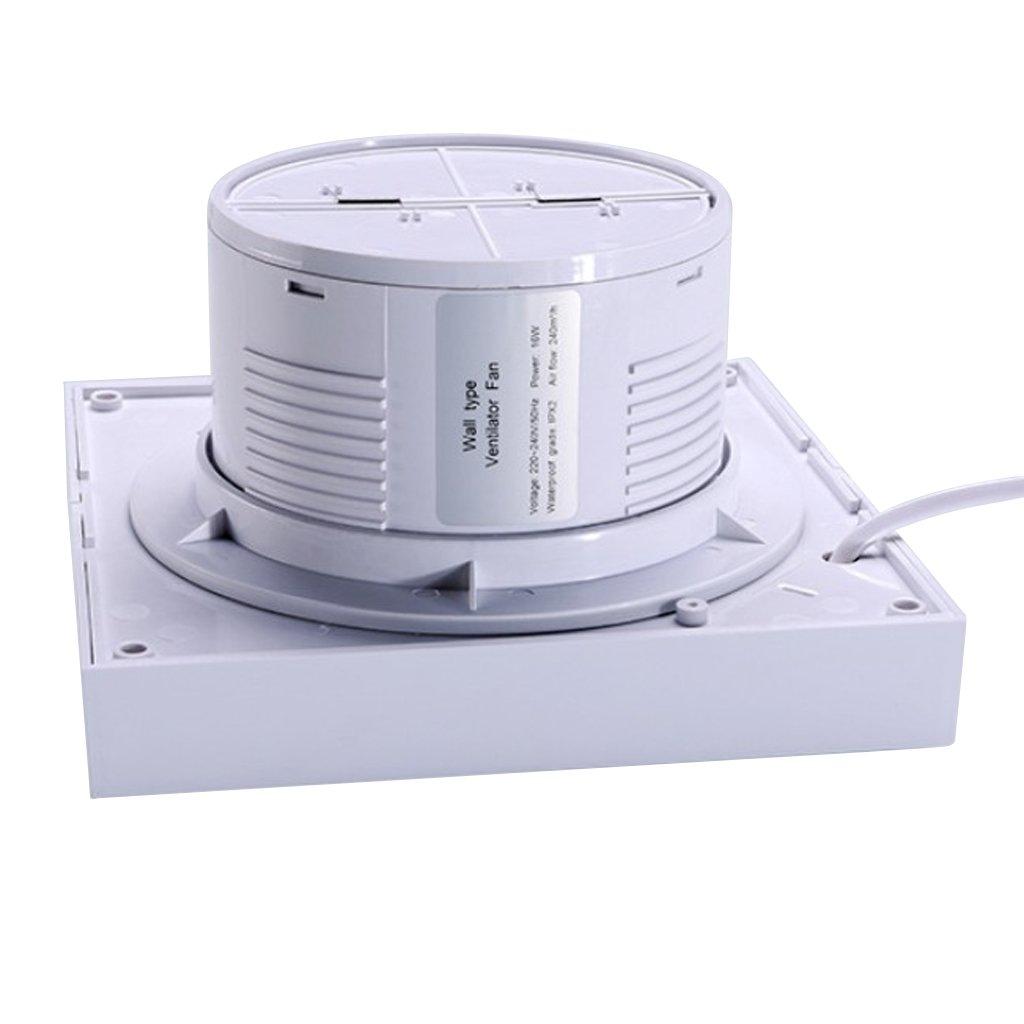 Homyl Leiser Badl/üfter Wandventilator Ventilator L/üfter f/ür 4-6 Leitung 4 Zoll