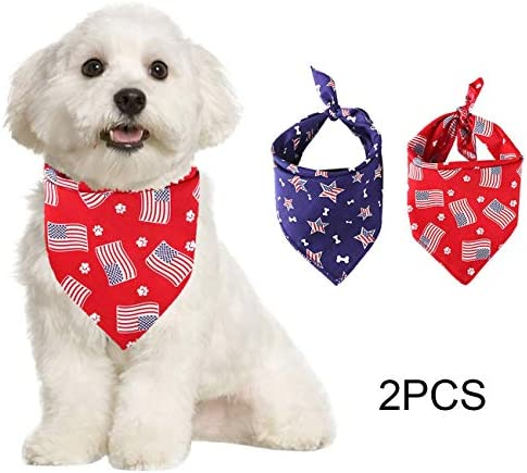 Acronde - 2 pañuelos para Perro, diseño Triangular, Lavables, para ...