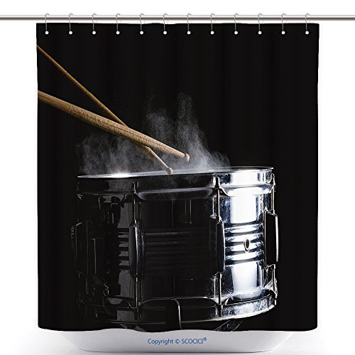Girl Hit Costume Ebay (Stylish Shower Curtains Drum Sticks Hit On The Snare Drum In Black Background Close Up Low Key 529602367 Polyester Bathroom Shower Curtain Set With)