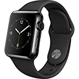 Apple Watch Series 2 42mm Black Aluminum Case with Black Sport Band (Certified Refurbished)