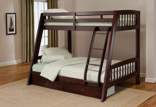 Hillsdale 1668BB Rockdale Bunk Bed, Twin over Full, (Twin Over Full Cherry Bed)
