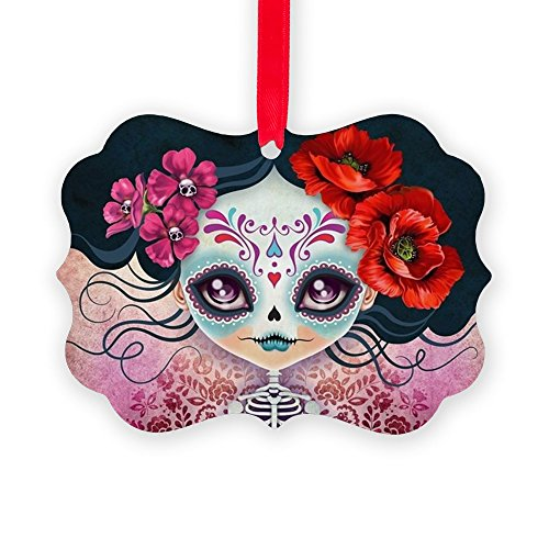 CafePress Amelia Calavera Sugar Skull Christmas Ornament, Decorative Tree Ornament