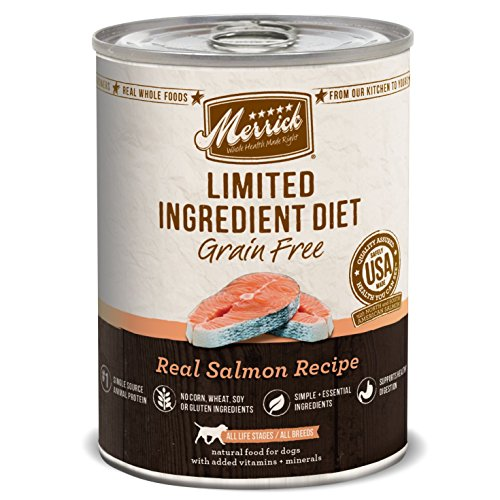 Merrick Limited Ingredient Diet Real Salmon Recipe Dog Food, 12.7 oz., Case of 12 (Salmon Premium)