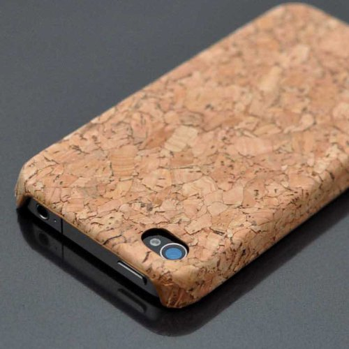 For iPhone 4S 4 Wydan Genuine Cork Designed Ultra Thin Hard Case Cover
