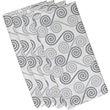 E by design N4G770GY1 Rip Curl Geometric Print Napkin (Set of 4), 19'' x 19'', Gray