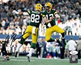 Richard Rodgers Signed Packers 8x10 Photo w/ Aaron JSA Witness Auto Autograph