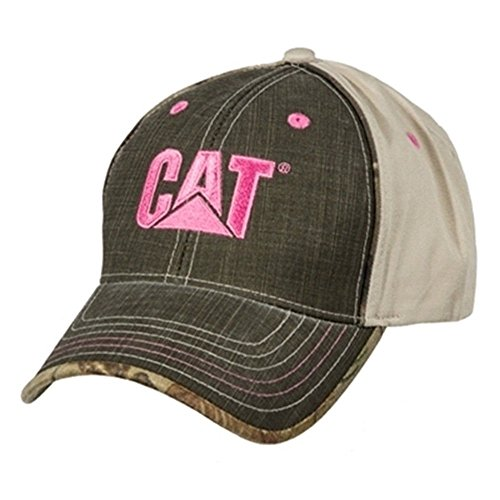BD&A Caterpillar CAT Equipment Ladies Pink Camouflage Hick Chick Hat/Cap